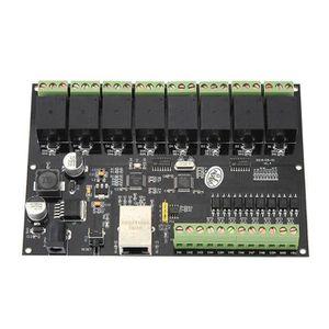 NOIR Relais 8 Voies Avec Bo/îtier,Commutateur De Relais 8 Canaux AC 10A pour RJ45 TCP//IP 250V