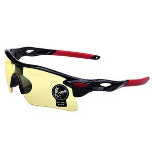 Oulaiou 009181 Sports Cyclisme Des Lunettestte Pêche Running Uv400 Lunettes De Soleil Pour Hommes - Blanc + Rouge YDDAf
