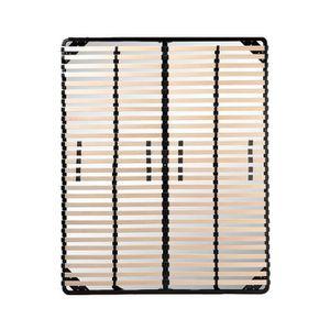 SOMMIER Sommier à lattes 140x190 Résistant acier et bois F