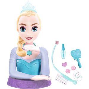TÊTE À COIFFER LA REINE DES NEIGES Tête à Coiffer de Luxe Elsa av