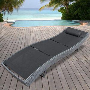 bain soleil resine tresse noir achat vente pas cher. Black Bedroom Furniture Sets. Home Design Ideas