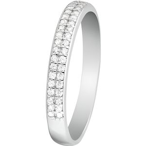 BAGUE - ANNEAU Mes-bijoux.fr - Bague Femme Justesse Or Blanc 375-