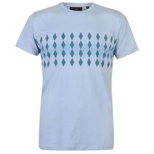 T-SHIRT Pierre Cardin Argyle Imprimé T-Shirt Manche Courte