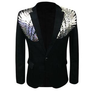 414b019efa4 COSTUME - TAILLEUR Veste de costume homme avec paillette un bouton bl