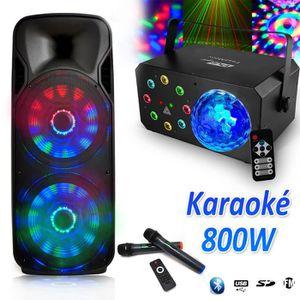 PACK SONO Enceinte Karaoké Party Batterie Sono DJ PA 1000W M