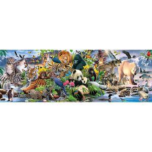 PUZZLE Puzzle panoramique 1000 pièces : Une faune haute e