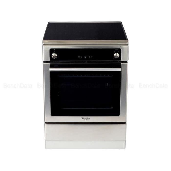 WHIRLPOOL AXMT 6634-IX - Cuisinière induction - Four électrique - 4 Fonctions automatiques - A - 57 L - Gris et noir