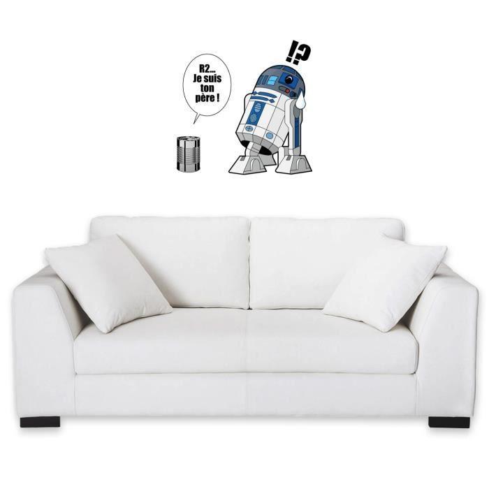sticker mural 60 cm geek parodie star wars bo te de conserve achat vente stickers. Black Bedroom Furniture Sets. Home Design Ideas