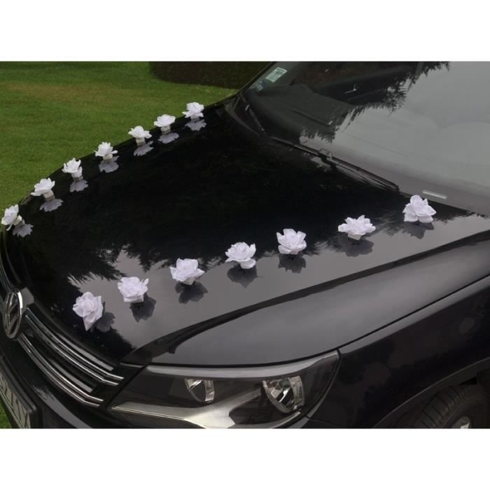 decoration rose voiture mariage achat vente decoration rose voiture mariage pas cher cdiscount. Black Bedroom Furniture Sets. Home Design Ideas