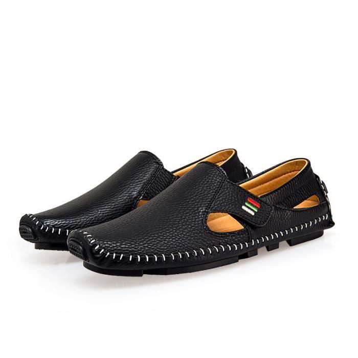 Homme Mocassins Bateau Cuir Chaussure mode sandales Casual Chaussure yNesVfe0D