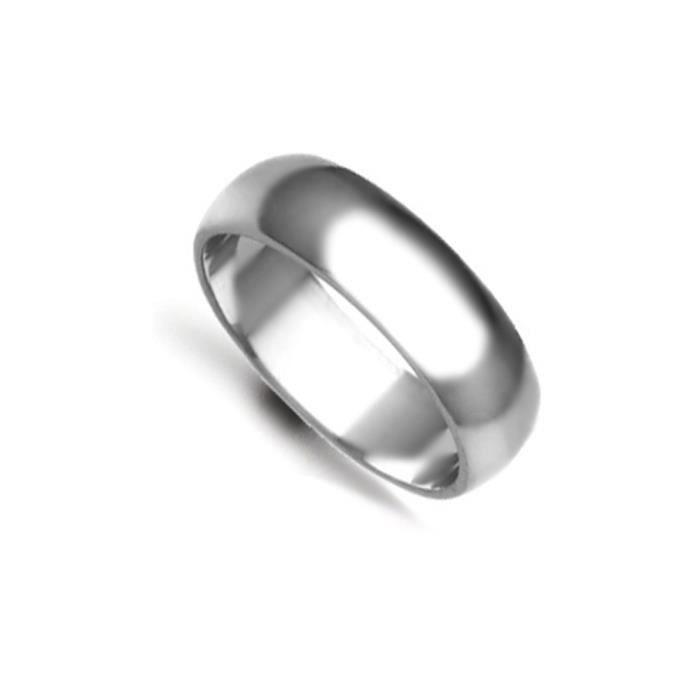 Jewelco Londres anneau de mariage d-forme 18K 6mm en or blanc à la main