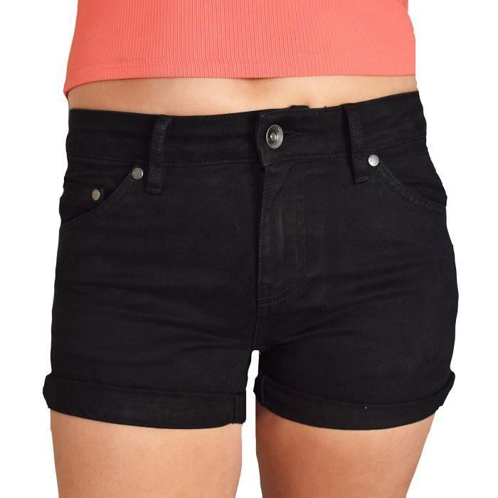 35ec957394b89 Short - Short - Femme 1JBS18 Taille-38 Noir Noir - Achat / Vente ...