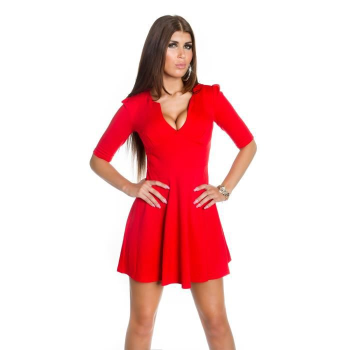 a568b3349d Robe rouge casual ville sexy femme Rouge rouge - Achat / Vente robe ...