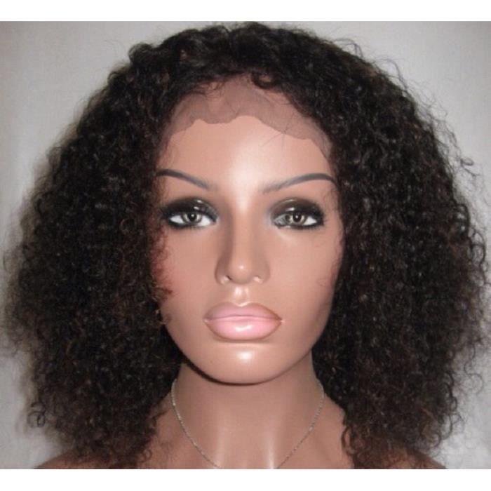 Perruque femme 14 pouces 2# brun foncé Afro