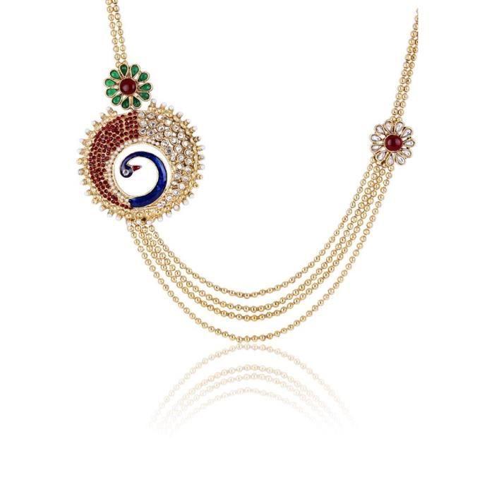 Plaqué or féminin multi-brins Pour (multi-couleur) SBFWB