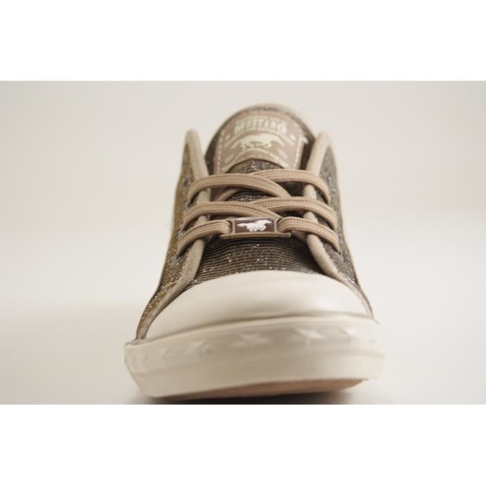 MUSTANG SHOES-1099 308-TENNIS LACET-GOLD