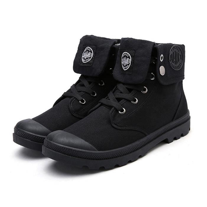 Minetom Automne Hiver Angleterre Cuir Chaussures Martin Botte pour Homme Bottines À Lacets de Moto Boots Flattie Sport aOy3FS