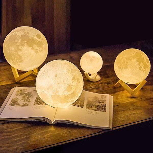Lampe 3d Lumière De Un Rechargeable Anniversaire Tactile Interrupteur Lune Noël Pour Chambre Idéal 15cm Lune Nuit Clair 55xqr1WHw