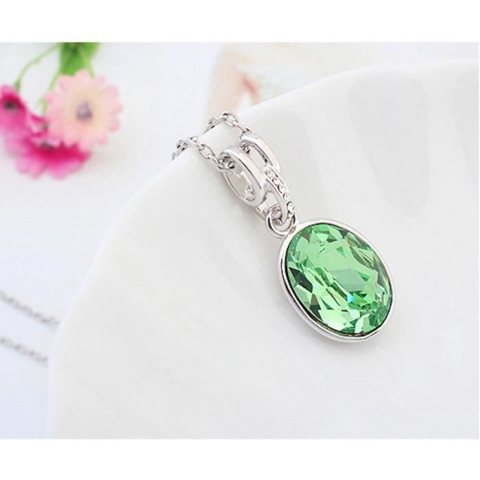 Cristaux Swarovski et Preciosa Strass Collier diamant pendentif de femmes. Tous les jours - Tenues de soirée Fashio ADDZZ