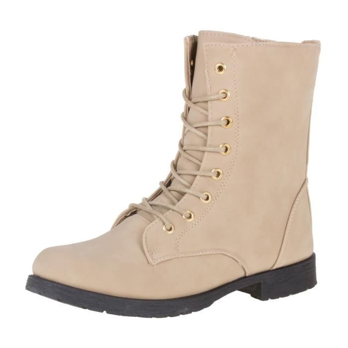 Chaussures femmes Bottine fermeture éclair Derbies bottes