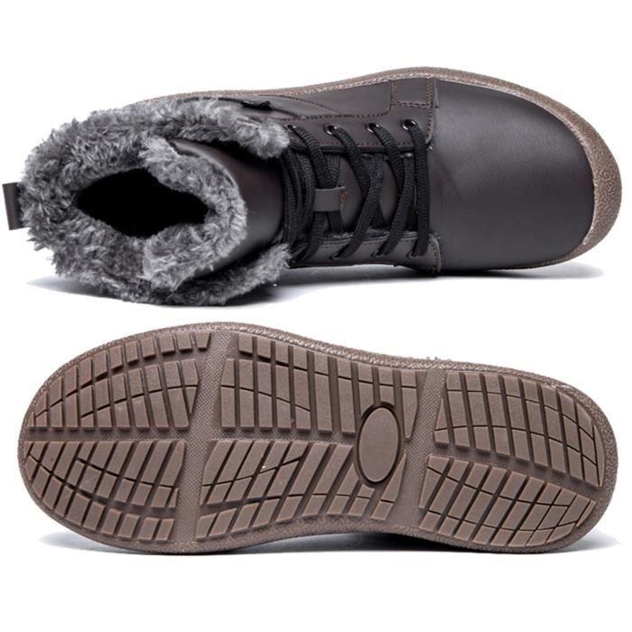 Hommes d'hiver Bottes de neige Réchauffez extérieur chausson imperméable NBYP3 Taille-39 1-2 9khrxy