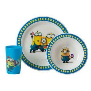 Les Minions Ensemble lunch : Assiette - Verre - Bol