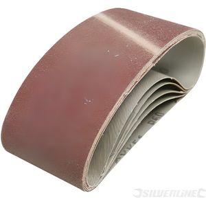5 bandes abrasives 75 x 457 mm