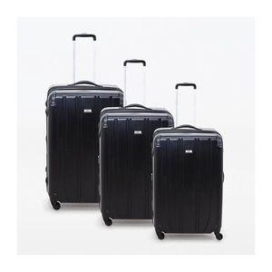 VALISE - BAGAGE Lot de 3 valises rigide 4 roues Horizon noir Metze