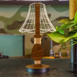 LAMPE A POSER USB Lumière de Nuit lampe de table 3D lampe dimmab