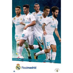 AFFICHE - POSTER Affiche Real Madrid 2017-2018