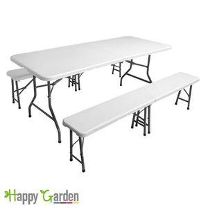 Table et banc pliant castorama elegant salon de jardin - Table de camping avec banc ...