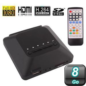 LECTEUR MULTIMÉDIA Passerelle multimédia FULL HD 1080P HDMI 8Go