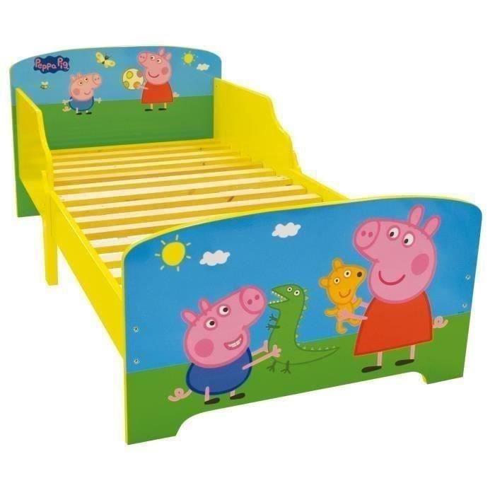 Fun House Peppa Pig lit 140x70 cm avec lattes pour enfant