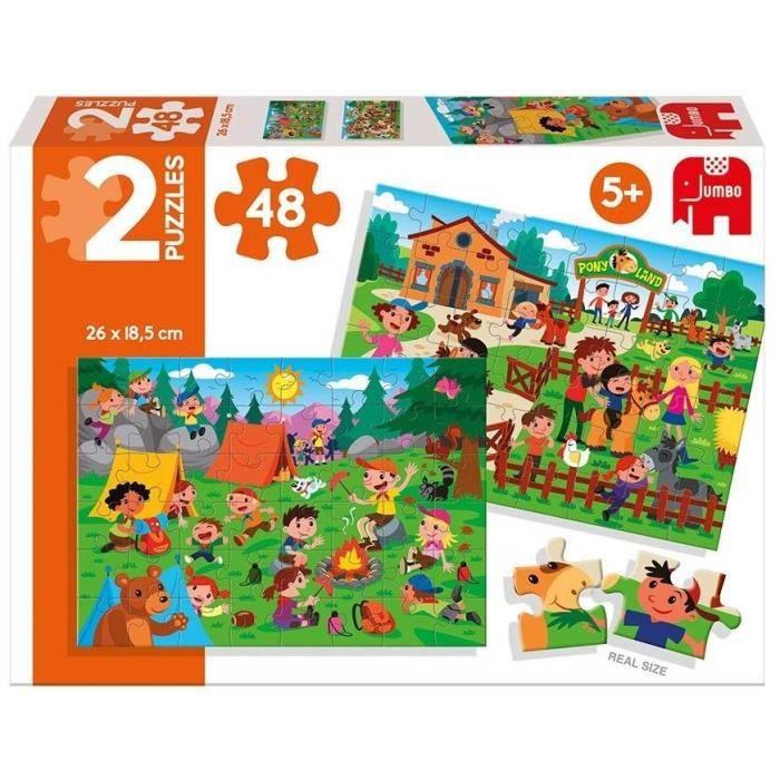 DISET - 2 Puzzles 48 pièces : Le centre équestre et le campement