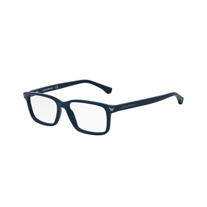 99e59b16886b8 Lunettes de vue Emporio Armani Homme EA3072 5452 Bleue 52 x 34