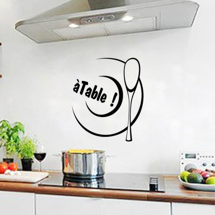 cr ative stickers muraux pour cuisine d coration la maison achat vente stickers cdiscount. Black Bedroom Furniture Sets. Home Design Ideas