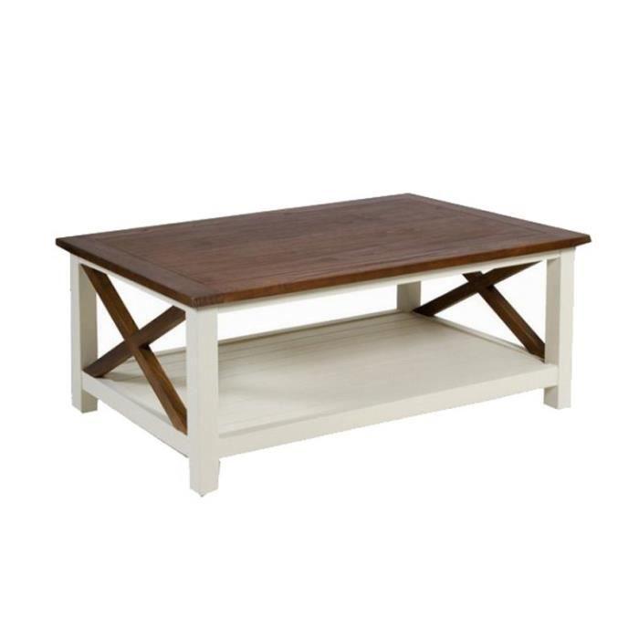 table basse salon croisillons bois et laqu blanc 110x70cm achat vente table manger. Black Bedroom Furniture Sets. Home Design Ideas