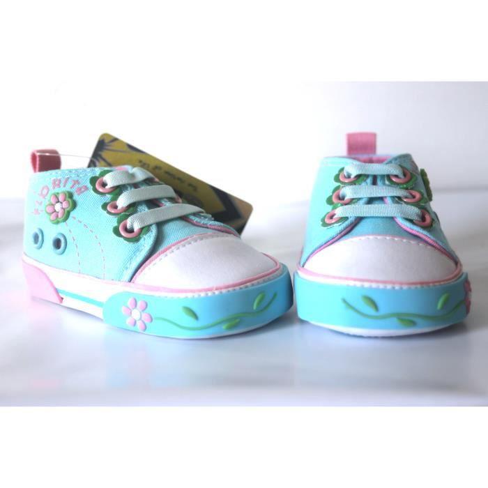 Chaussures Bébé bleu ciel façon basket en toile 17 njkjw