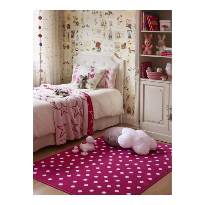 Tapis fuschia pour chambre d\'enfant Dots Lorena Canals - 200x300cm ...