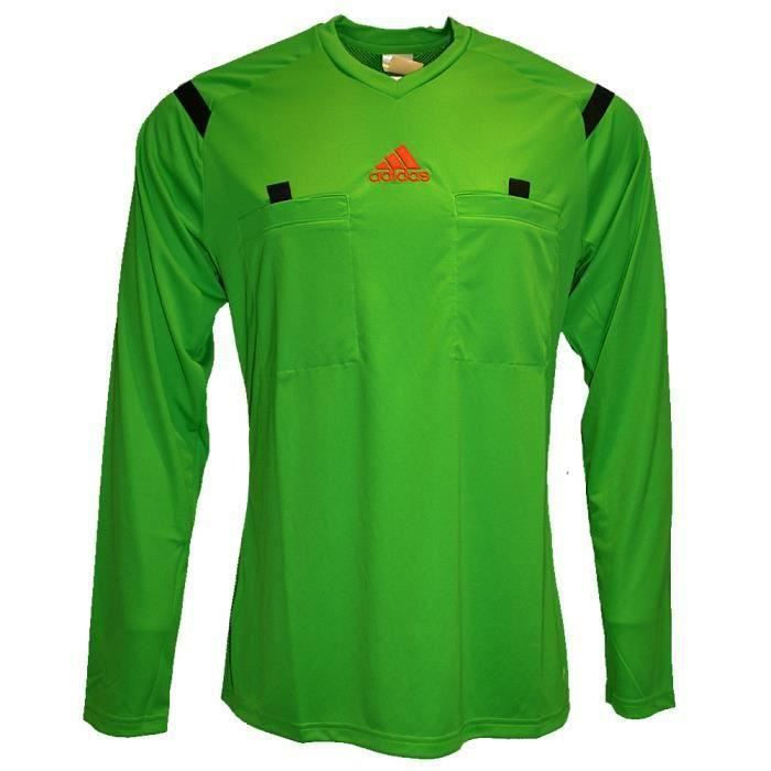 Longues Arbitre Pas Maillot Football Vert Adidas Prix Neuf Manches q6Yxf