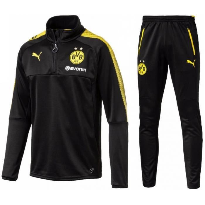 ef01e4a5b70 Survetement Football Puma BVB Borussia Dortmund 2018 - Prix pas cher ...