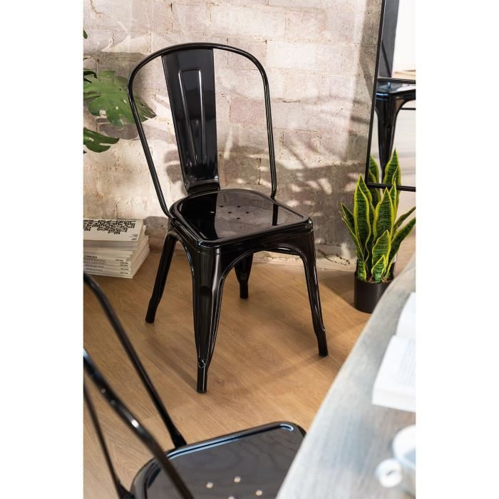 Chaise Design Industriel LIX Noir