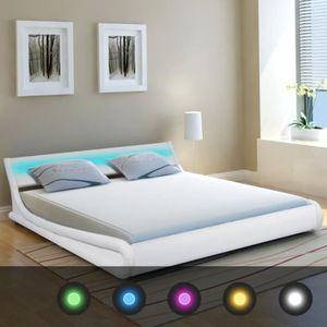 Lit Moderne A Led Achat Vente Pas Cher - Cadre de lit moderne
