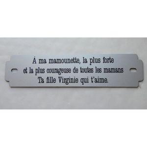 PLAQUE FUNÉRAIRE Inter funéraire double personnalisable format 146m