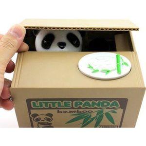 TIRELIRE Tirelire panda: panda vole les monnaies automatiqu