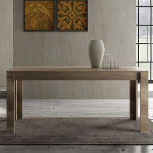 TABLE À MANGER SEULE Salle a manger contemporaine couleur chêne LOGGIA