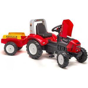 Tracteur a pedales john deere achat vente jeux et jouets pas chers - Tracteur remorque enfant ...