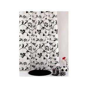 Rideau de douche noir et blanc achat vente rideau de douche noir et blanc pas cher cdiscount - Rideau de douche noir et blanc ...