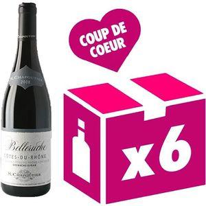 VIN ROUGE Côtes du Rhône Belleruche vin rouge 6x75cl Chapout