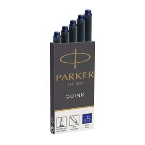 ENCRE Parker Quink Cartouche d'encre bleu pack de 5